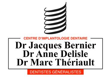 Arrivée de Dr Marc Thériault et départ à la retraite de Dr Jacques Bernier. Changement du nom de la clinique pour Centre d'implantologie Bernier, Delisle et Thériault